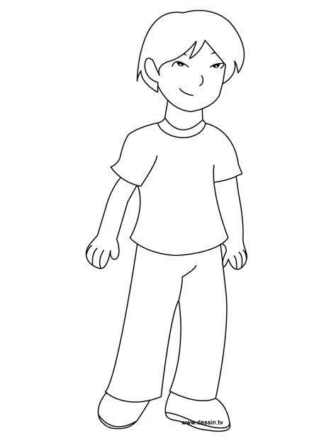 Coloring Boy Coloring Pages Of A Boy