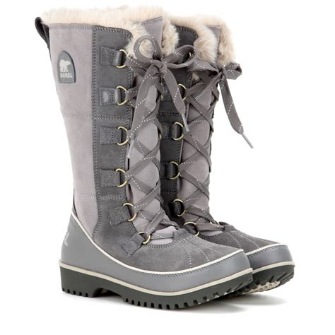 sorel tivoli high winter boots s sorel tivoli high ii suede boots in gray lyst