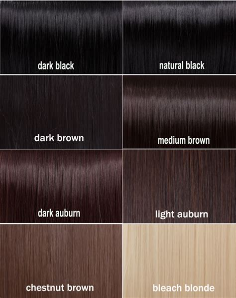 Black Brown shades of black hair color chart hairstyle for