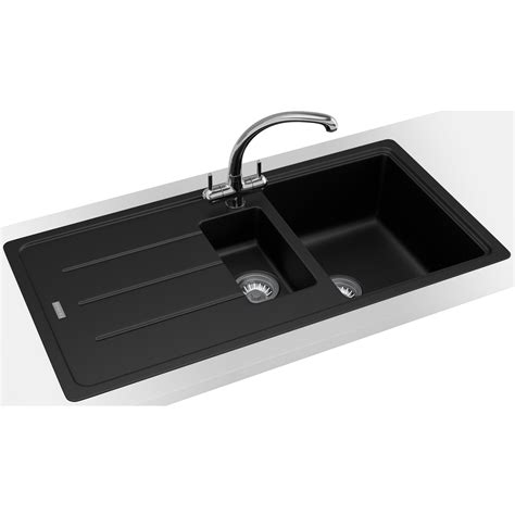 Kitchen Sink Inset Franke Basis Bfg 651 Fragranite 1 5 Bowl Kitchen Inset Sink 1140253258
