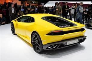 Lamborghini Huracan Yellow 2014 Geneva Motor Show Lamborghini Huracan Yellow Back