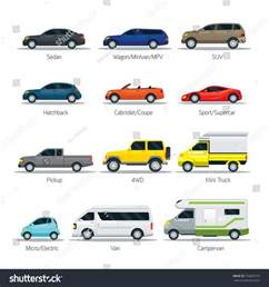 Types Of Cars Car Type And Model Objects Icons Set Multicolor