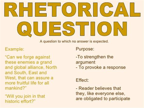 exle of rhetoric rhetorical question exles alisen berde