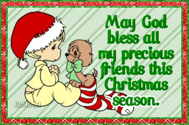 god bless   precious friends  christmas