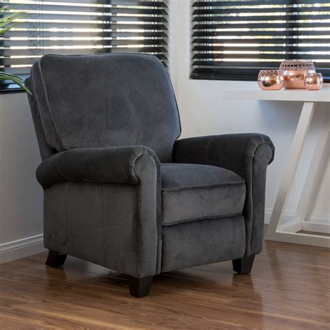 Benji Recliner by Benji Charcoal Fabric Recliner Club Chair Great Deal