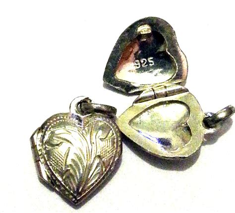 sterling silver engraved locket charm