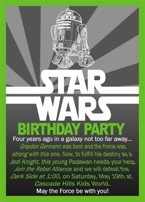 printable star wars invitations free printable star wars birthday invitations envytate