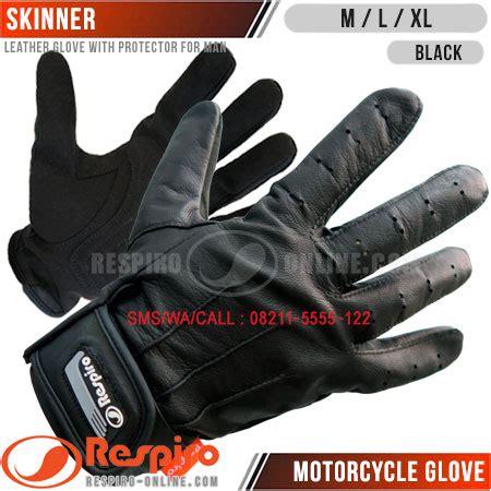 Sarung Tangan Kulit Racing Velcro sarung tangan kulit respiro skinner respiro