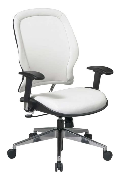 white office desk chair vinyl office chairs as leather chair alternative