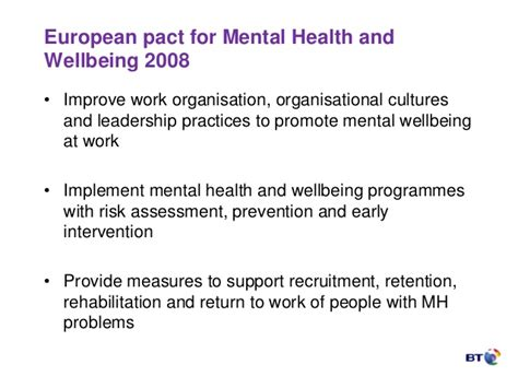 section 10 mental health european year of mental health better work better