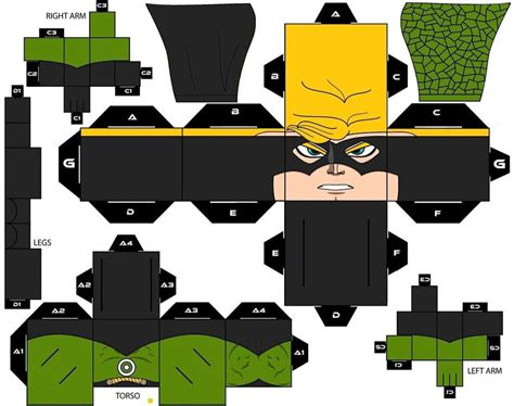 Cubee Papercraft - cubee craft count vertigo dc by handita2006 on