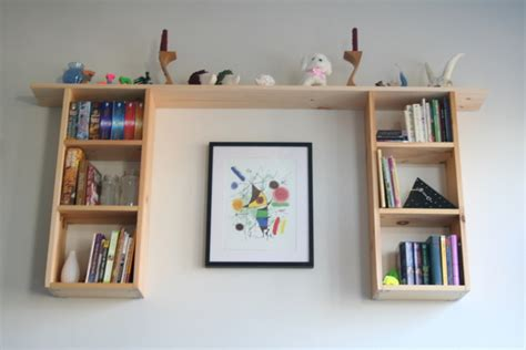 custom made wall hung bookshelf la casa de crafts