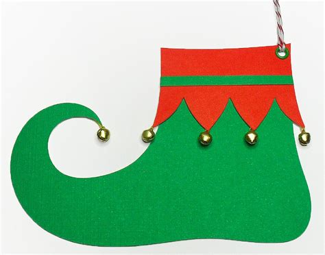 Printable Elf Boots | elf shoe tags