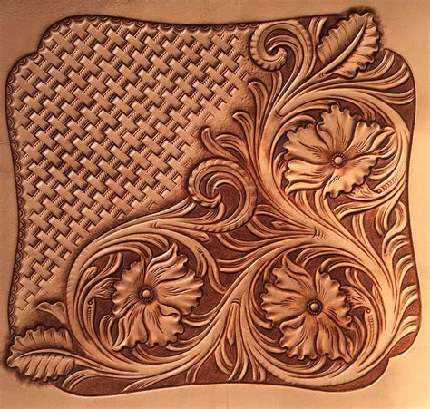 Carving Leather traditional pattern leather carving leather carving