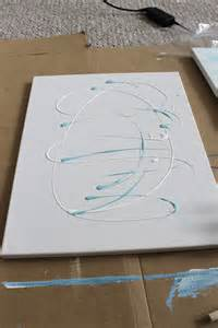 The painting i just randomly swirled some white and mint green paint