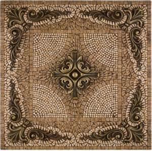 kitchen backsplash metal medallions metal mural grand rachel mosaic tile backsplash by