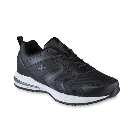 kmart mens athletic shoes athletech s shuffle black athletic shoe