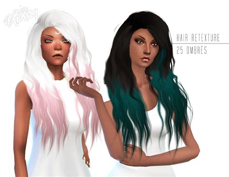 sims 4 ombre hair my sims 4 blog stealthic sleepwalking ombre retexture by