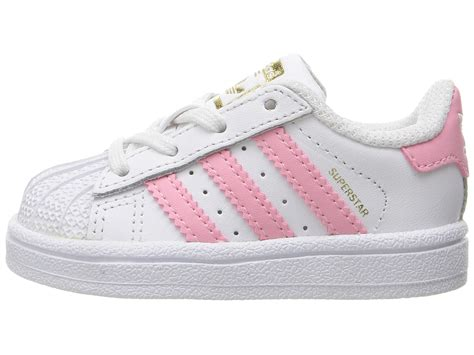 adidas originals superstar infant toddler white pink zappos free shipping both ways