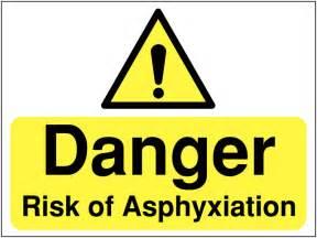 Construction Signs   Danger Risk of Asphyxiation   Seton UK