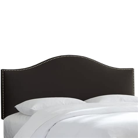 black upholstered headboard king skyline furniture king size upholstered headboard in black