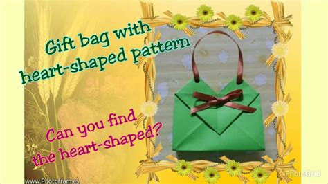 How To Make A Gift Bag From A4 Paper - origami a4 paper gift bag box with shaped tutorial