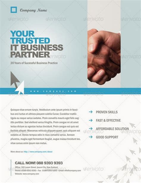 Professional Handout Template 20 professional flyer templates for multi purpose business 56pixels