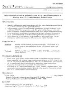network administrator resume it systems resume samples