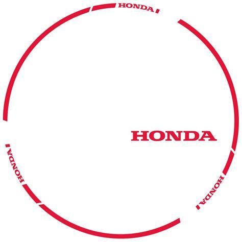 Felgenaufkleber Design by Felgenaufkleber Honda Irace Design