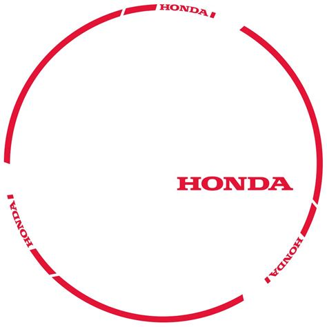 Honda Felgenaufkleber by Felgenaufkleber Honda Irace Design