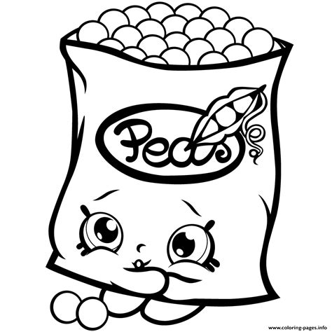 coloring pages of cute shopkins print freezy peazy shopkins season 1 peas coloring pages