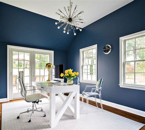 best 25 blue office ideas on navy office blue walls and painted walls