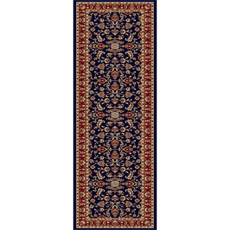 Navy Blue Runner Rug Tayse Rugs Sensation Navy Blue 2 Ft 7 In X 7 Ft 3 In Transitional Rug Runner 4797 Navy 2x8