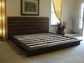 Diy King Platform Bed King Rustic Platform Bed Maybe Diy Furniture The Rustic Bed And