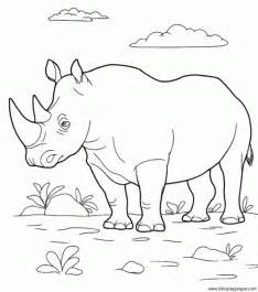 dibujo rinoceronte 013 dibujos juegos pintar colorear