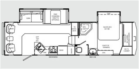 holiday rambler fifth wheel floor plans 2009 holiday rambler alumascape fifth wheel series m 29ckd