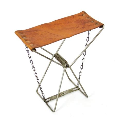 Leather Folding Stool by Folding Leather Cing Stool