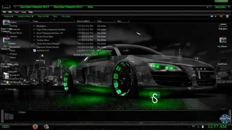theme windows 10 audi razer green windows 7 theme youtube