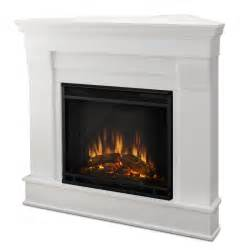 Corner Electric Fireplace Real Chateau Corner Electric Fireplace In White