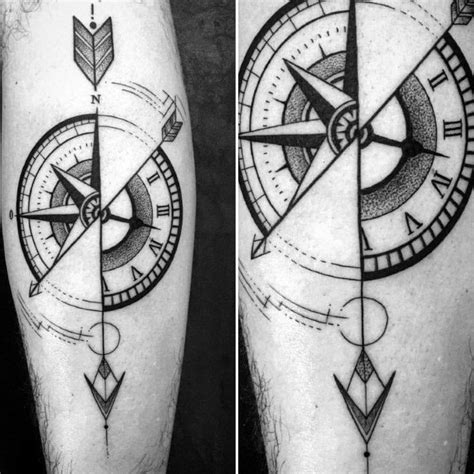 40 geometric compass tattoo designs for men cool