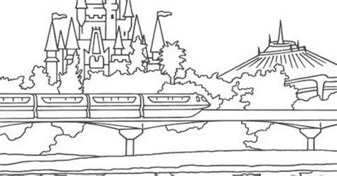 coloring pages disney mountain cinderellas castle