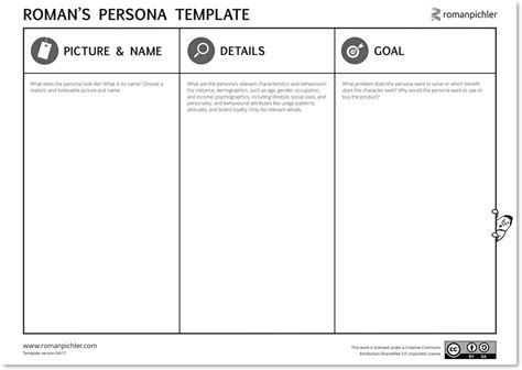 agile epic card template a persona template for agile product management