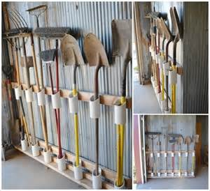 how to hang tools in shed organize your garden tools using pvc pipe