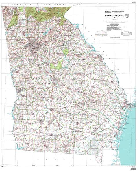 map of uga maps 2001 maps with contours georgiainfo