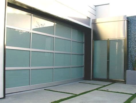 Modern Glass Garage Doors by Modern Glass Garage Door And Entry Door Frosted Glass For