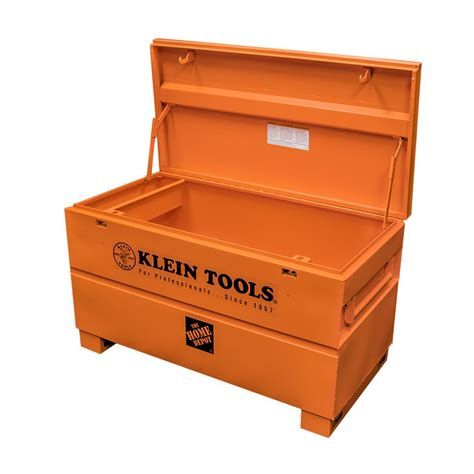 tool box klein tools 48 in steel tool box 54605 the home depot