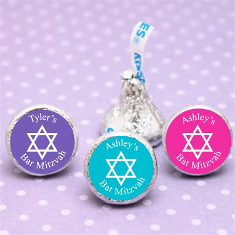 Bat Mitzvah Giveaways Personalized - personalized bar or bat mitzvah hershey s kiss 100 pcs bar mitzvah bat mitzvah