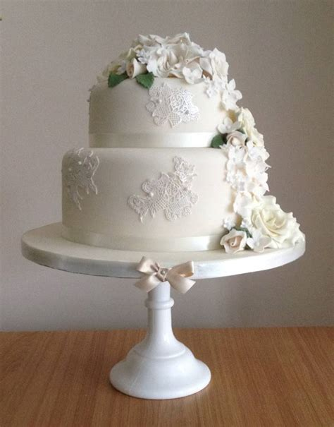 white 2 tier wedding cake home the winchester cake parlour