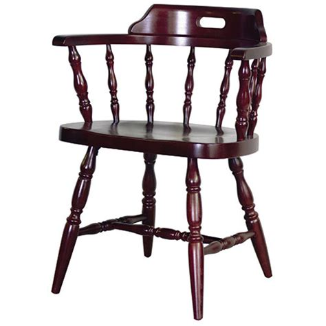 Wooden Captains Chairs by Dominion 208 Captain S Chair Wood Seat 24 1 4 Quot W