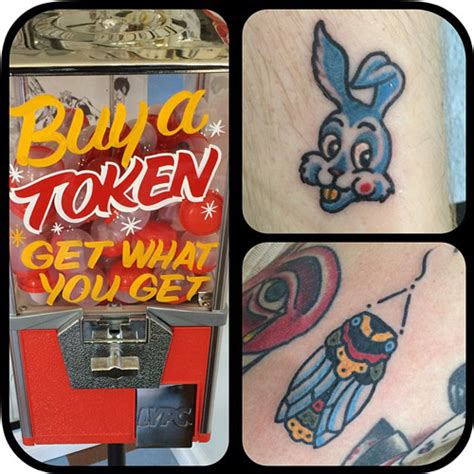 tattoo vending machine real tattoos chosen by chance out of gumball machine